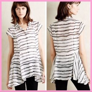 "ANTHRO MEADOW RUN | ""Walking Tour"" Striped Tunic"